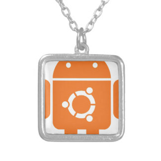 Ubuntu Droid Linux Tshirt Code ubuntudroid Silver Plated Necklace