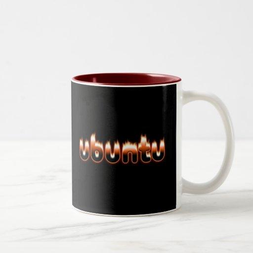 Ubuntu Fire Two-Tone Coffee Mug