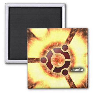 Ubuntu Imán Cuadrado