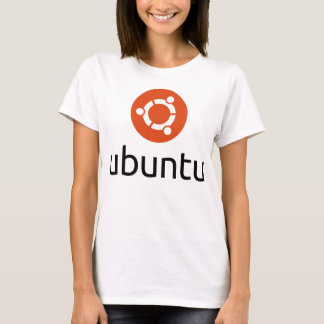 Ubuntu Lady's T-shirts big black logo
