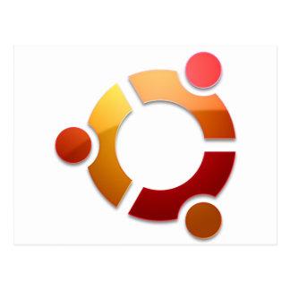 Ubuntu Linux Circle of Friends Logo Postcard
