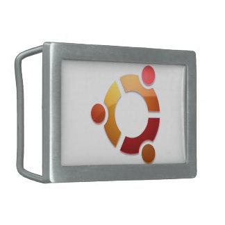 Ubuntu Linux Circle of Friends Logo Rectangular Belt Buckle