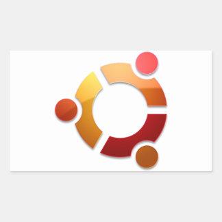Ubuntu Linux Circle of Friends Logo Rectangular Sticker