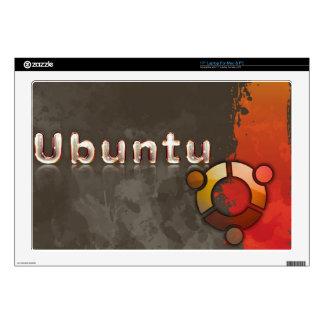 """Ubuntu Linux Logo & Circle of Friends 17"""" Laptop Skins"""