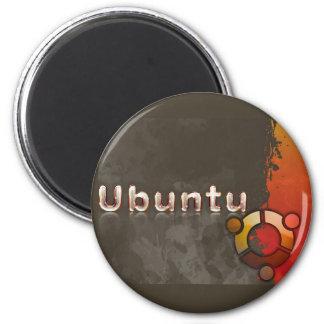 Ubuntu Linux Logo & Circle of Friends 2 Inch Round Magnet