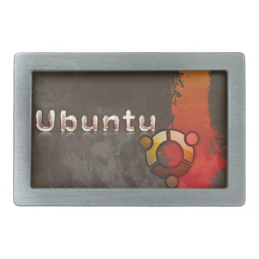 Ubuntu Linux Logo & Circle of Friends Rectangular Belt Buckles