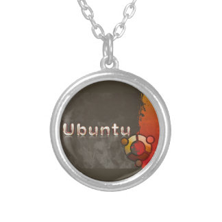 Ubuntu Linux Logo & Circle of Friends Silver Plated Necklace