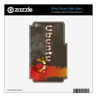 Ubuntu Linux Logo & Circle of Friends Skins For iPod Touch 4G