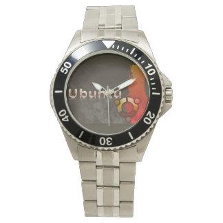 Ubuntu Linux Logo & Circle of Friends Wrist Watch