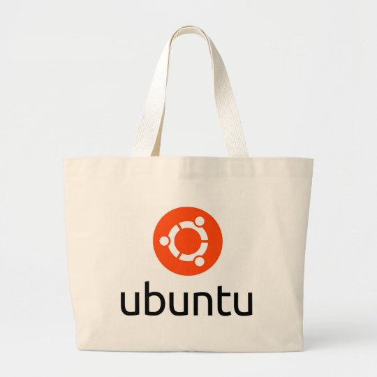 Ubuntu Linux Logo Large Tote Bag