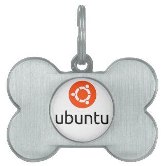 Ubuntu Linux Logo Pet Name Tag