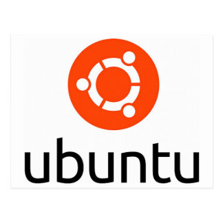 Ubuntu Linux Logo Postcard
