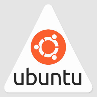 Ubuntu Linux Logo Triangle Sticker