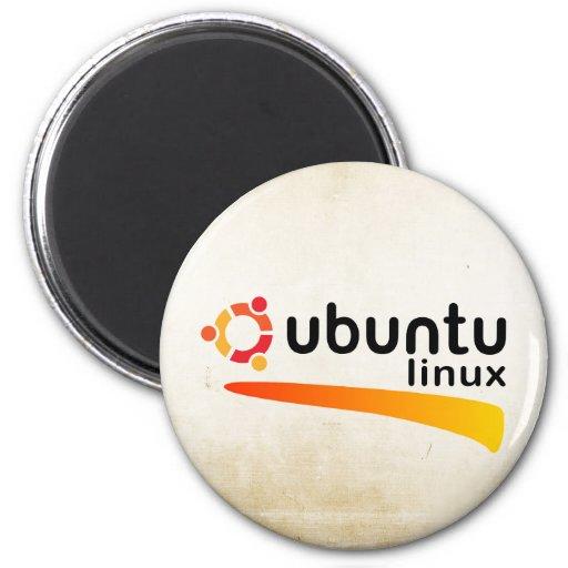 Ubuntu Linux Open Source 2 Inch Round Magnet