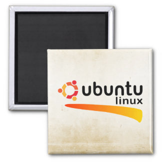 Ubuntu Linux Open Source 2 Inch Square Magnet