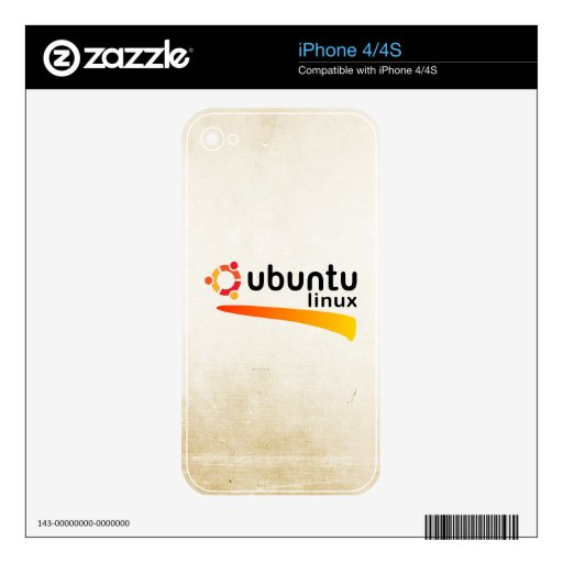 Ubuntu Linux Open Source iPhone 4S Calcomanía