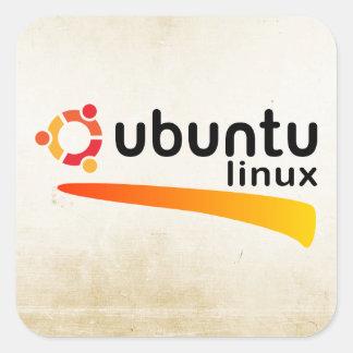 Ubuntu Linux Open Source Pegatina Cuadrada