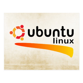 Ubuntu Linux Open Source Postcard