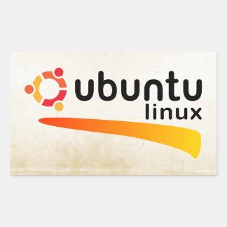 Ubuntu Linux Open Source Rectangular Sticker