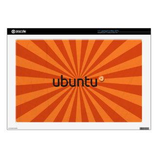 """Ubuntu Linux Orange Starburst Skins For 17"""" Laptops"""