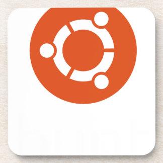 Ubuntu Linux Tshirt Drink Coaster