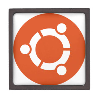 Ubuntu Linux Tshirt Kode ub05 Premium Keepsake Boxes