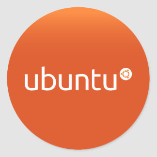 Ubuntu orange grdiant classic round sticker
