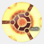 Ubuntu Pegatina Redonda