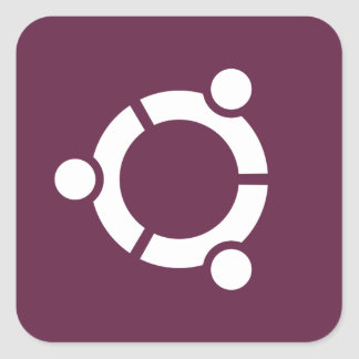 Ubuntu Purple Square Sticker