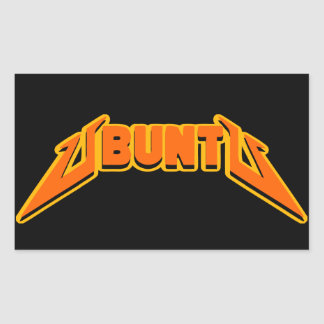 Ubuntu Rock Parody Logo Sticker