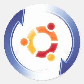 Ubuntu-update Classic Round Sticker