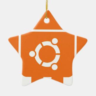 Ubuntudroid del código de la camiseta de Ubuntu Adorno Navideño De Cerámica En Forma De Estrella