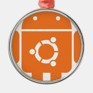 Ubuntudroid del código de la camiseta de Ubuntu Adorno Navideño Redondo De Metal