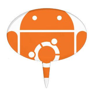 Ubuntudroid del código de la camiseta de Ubuntu Decoración De Tarta