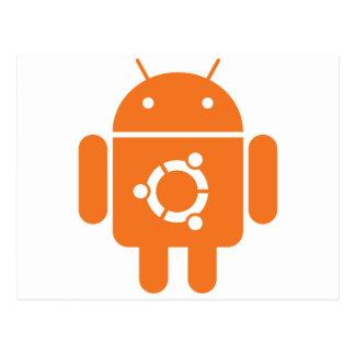 Ubuntudroid del código de la camiseta de Ubuntu Postal