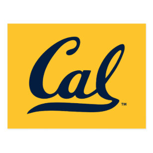 UC Berkeley Cal Logo Blue Postcard