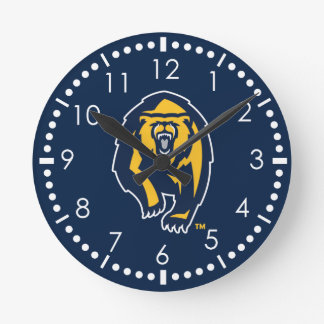 UC Berkeley Golden Bears Logo Round Clock