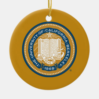 UC Berkeley School Seal Ceramic Ornament