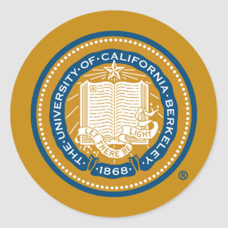 UC Berkeley School Seal Classic Round Sticker