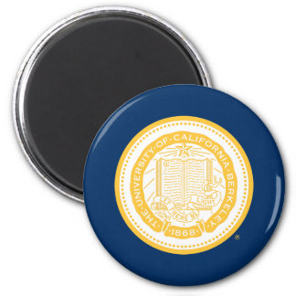 UC Berkeley School Seal - Gold 2 Inch Round Magnet
