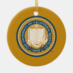 UC Berkeley School Seal - Gold and Blue Christmas Tree Ornament