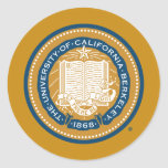 UC Berkeley School Seal - Gold and Blue Classic Round Sticker