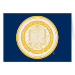 UC Berkeley School Seal - Gold Greeting Cards