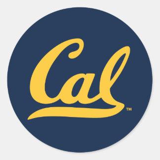UC Berkley logo Golden Classic Round Sticker