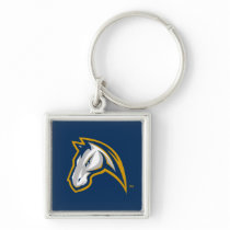 UC Davis Horse Head Keychain