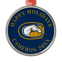 UC Davis Horse Head Logo Metal Ornament