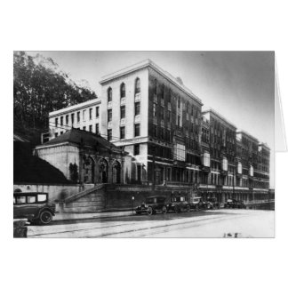 UC Hospital, 1920s - notecard