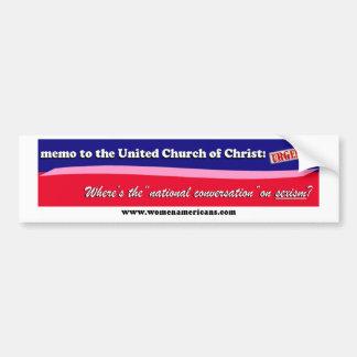 UCC: national conversation Bumper Sticker