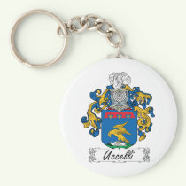 Uccelli Family Crest Keychain