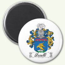 Uccelli Family Crest Magnet